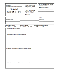 sample employee suggestion form 7 documents in pdf word