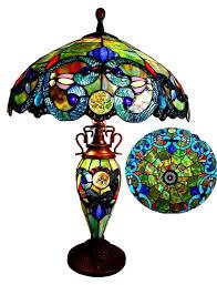 Stained Glass Floor Lamp Stained Glass Floor Lamp Tiffany Style Victorian 3 Light Double