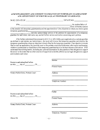 Guardianship Power Of Attorney by Temporary Legal Guardianship Form Georgia Free Download