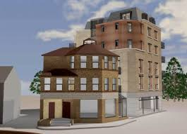 planning application for 6 storey block behind hexagon house