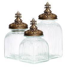 fleur de lis canisters for the kitchen ec imports casa cortes rococo revival fleur de lis glass 3