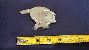 vintage pontiac indian mascot radiator cap ornament emblem