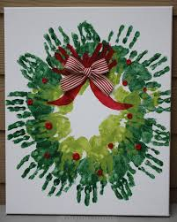 Homemade Christmas Wreaths by Homemade Holiday Gifts Baby U0026 Wobbler Handprint Wreath Gifts