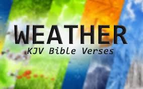 kjv bible verses weather