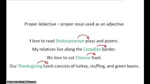 adjectives for thanksgiving grammarflip video proper adjectives youtube