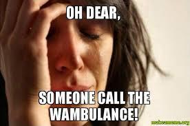 Wambulance Meme - oh dear someone call the wambulance make a meme