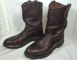 pull on motorcycle boots red wing 1132 pecos brown leather boots pull on work motorcycle