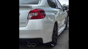 sti subaru 2016 white 2015 subaru wrx mud flaps rokblokz review youtube