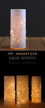 Diy Lantern Lights Make Paper Lanterns Inspired By Dandelions Paper Lanterns