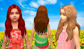 sims 4 kids hair my sims 4 blog kiara24 sensitive hair and more for females