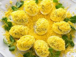 mimosa cuisine eggs mimosa with artichoke tapenade unique recipe healthy dish