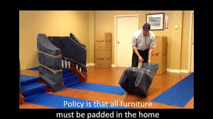highland moving how to blanket wrap a dining room chair youtube