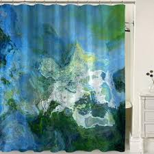 Blue Green Curtains Abstract Blue Aqua Shower Curtains Abstract Home