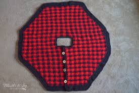 plaid tree skirt crochet plaid tree skirt whistle and