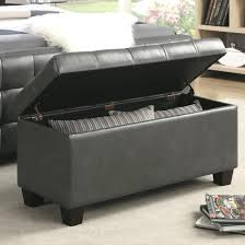 Wooden Benches With Storage Furniture Of America Basiten Modern Storage Bench With Under Seat