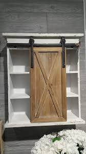 wood storage cabinets with doors and shelves sliding barn door wood storage cabinet 160 00 cottage home