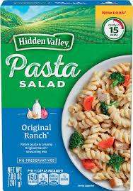 hidden valley pasta salad original ranch 7 09 ounces walmart com