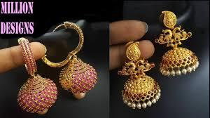 jhumkas earrings 22k gold jhumkas earrings best in town designs women