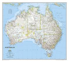Classic Maps Buy Australia Classic Tubed By National Geographic Maps