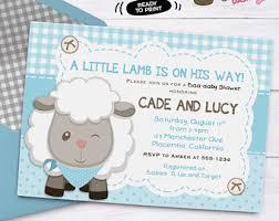 sheep baby shower holy sheep boy baby shower invitation theme baby
