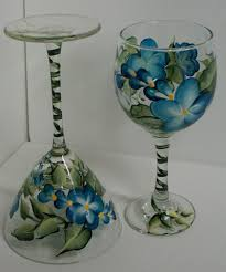 Hand Painting Wine Glasses 20 Steps with