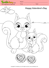 squirrel valentine day coloring sheet turtle diary