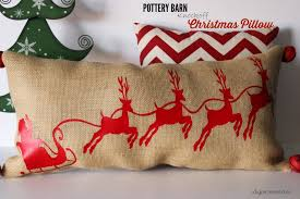 pottery barn black friday sales pottery barn knockoff santa and sleigh christmas pillow plus