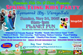 spring fling party early bird tickets entertain kids on a dime