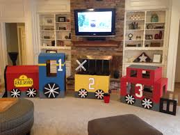 cardboard train for 3 year old birthday party kids train