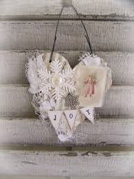 handmade ornament vintage lace ornament winter