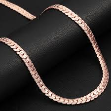 rose gold snake necklace images Trendy rose gold filled chain for men women jewelry wholesale jpg