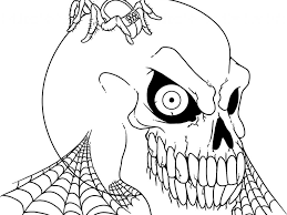 creepy halloween coloring pages coloring page for kids