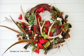 custom order elk and deer antler wreath
