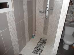 Bathroom Shower Tile Ideas Grey Curtain In Cream Bathroom Design With Brown Vanity Using