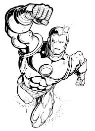 Iron Man Flying Coloring Pages Hellokids Com Coloring Page Iron