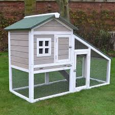 Build Your Own Rabbit Hutch Plans Grey Bunny Ark Rabbit Hutch Guinea Pig House Cage Pen With Built