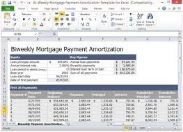Loan Amortization Calculator Excel Template Bi Weekly Mortgage Payment Amortization Template For Excel