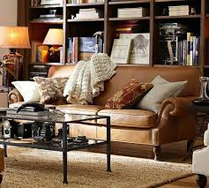Leather Cushions For Sofas Brown Leather Sofa With Fabric Cushions Fjellkjeden Net