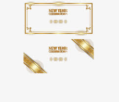 New Year Invitation Card Gold Lace New Year Card Gold Frame New Year Invitation Card Png