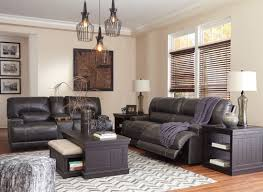 Leather Reclining Living Room Sets Mccaskill Gray Reclining Living Room Set From Coleman
