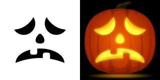 free sad pumpkin stencil