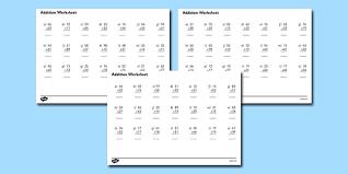 2 digit number addition worksheets addition worksheets