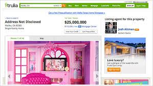 trulia malibu barbie malibu dreamhouse listed for 25 million on real estate