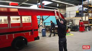 the making of the small schoolbus food truck by food truck