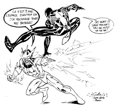 spiderman vs electro coloring pages