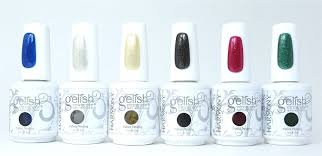amazon com gelish soak off holiday collection set of 6 colors