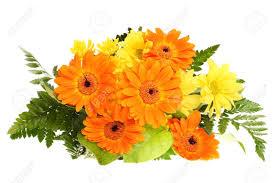 bunch bouquet flower bloom orange yellow green leaf wedding