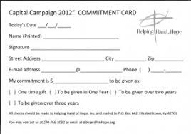 pledge cards template helping hand hope hardin county
