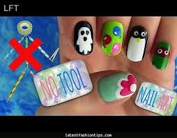 nail art for short nails for beginners at home without tools