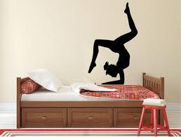 stickers muraux pour chambre gymnastique fille silhouette sticker élégant femme danseur vinyle